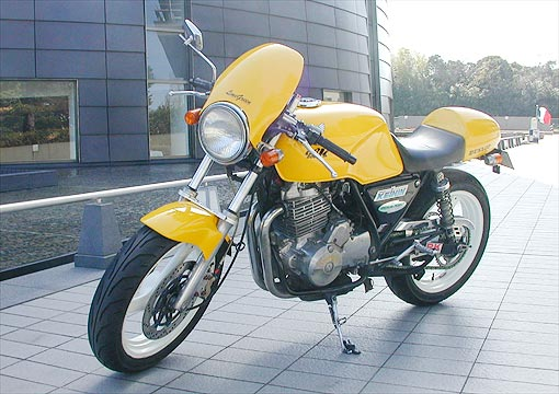 A modified Japanese Honda GB500